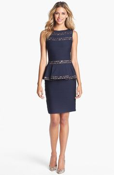 Tadashi Shoji Peplum Sheath Dress (Regular & Petite) available at #Nordstrom