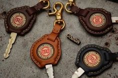 Handmade tochigi leather Royal Enfield key cover with tag name stamping service.(made to order) by Thank you for your support. Royal Enfield Logo, Royal Enfield Classic 350cc, Royal Enfield Stickers, Royal Enfield Accessories, Bullet Bike Royal Enfield, Enfield Himalayan, Bike Leathers, Bike Photography, Key Pouch