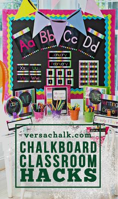 Discover how to beautify your classroom using chalkboards, chalkmarkers, and some chalkboard hacks.