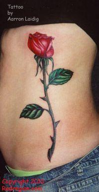 Rose Tattoo | Realistic rose tattoo by Aarron Laidig