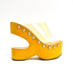 60s Sculptural Rare Wooden Platforms (Sabots /Kimel) ...can't believe I once wore these...now they make lovely bookends