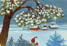 Marjaliisa Pitkäranta Christmas Photos, Christmas Cards, Christmas Stuff, Naive Art, Photo Postcards, Pixies, Christmas Printables, Little People, Gnomes