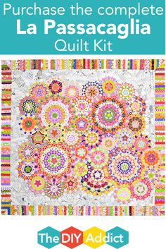 Purchase the complete La Passacaglia Quilt Kit! Includes Acrylics and Paper Pieces!