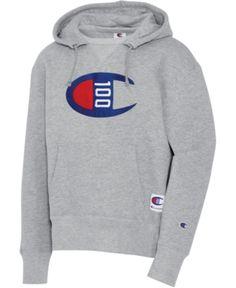 Champion Men's Century Logo Hoodie In Oxford Champion Wear, Nike Vest, Mens Sweatshirts, Hoodies, Crew Shop, Grey Hoodie, Baby Clothes Shops, Trendy Plus Size, Oxford