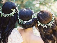 the flower crown has had it's moment... but i will never tire of a simple wreath made of olive branches. Hawkes Bay wedding by Erich McVey