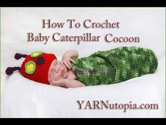 In this video I demonstrate how to crochet a baby cocoon inspired by the book The Very Hungry Caterpillar by Eric Carle. I got inspiration from a free patter...