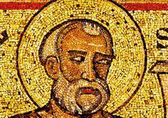 """Mosaïque du baptistère de St Jean Baptiste. Les """"(grands) prophètes"""".14. Elisée (Elises)"""