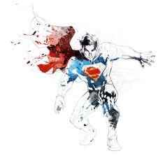 Superman, DC COMICS by david despau, via Behance