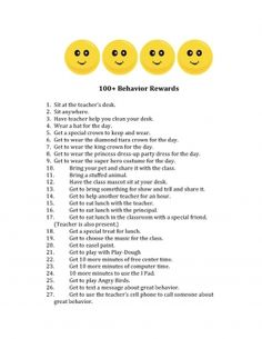 100+ Behavior Rewards, add to good behavior catalog
