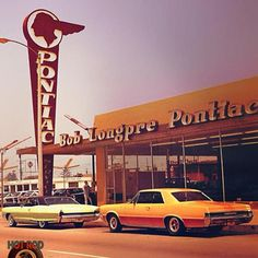 Vintage Pontiac dealership...Re-pin brought to you by agents of #CarInsurance at #Houseofinsurance in Eugene, Oregon