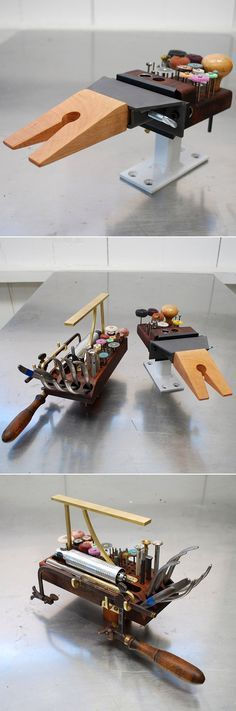 Jeweler's tools :: Bench pin with bit organizer #workspace https://www.flickr.com/photos/johnnyninos/8504161164/in/photostream/