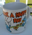 VINTAGE 1981 SMURFS COFFEE MUG - HAVE A HAPPY DAY - http://oddauctions.net/smurfs/vintage-1981-smurfs-coffee-mug-have-a-happy-day/
