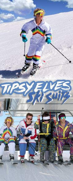 Look good from the black diamonds to the bunny slopes with radical Ski Suits from Tipsy Elves.
