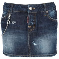 DSQUARED2 'Gonna mini' denim skirt. (1.135 HRK) found on Polyvore