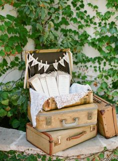 Villa San Juan Capistrano Wedding from Lane Dittoe Fine Art Wedding Photographs Vintage Suitcases, Vintage Luggage, Vintage Suitcase Photography, Chic Wedding, Rustic Wedding, Wedding Blog, Dream Wedding, Boda Vintage Ideas, Bodas Shabby Chic