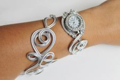 Watchband - Spare Duo Can only silver foil  Bracelet montre - Piéce Unique- Duo d'aluminium argenté by Zalanya on Etsy https://www.etsy.com/listing/242234440/watchband-spare-duo-can-only-silver-foil