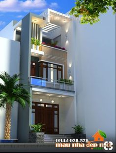 House plans narrow loft trendy Ideas in 2020 3 Storey House Design, House Front Design, Small House Design, Modern House Design, New House Plans, Modern House Plans, Style At Home, Bungalow Haus Design, Narrow House Designs