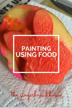 painting using food