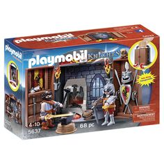 Take your knights adventure on the road with the Playmobil Knights Play Box! Defend the castle and save the town with this take along set!<br><br>Convenient take-along case is perfect for fun at home or on-the-go<br>Combine with other PlayMobil sets (sold separately) for even more imaginative play!