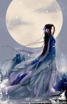 Beautiful Fantasy Art, Beautiful Drawings, Chinese Painting, Chinese Art, Anime Art Girl, Manga Art, Chinese Drawings, Anime Kimono, Art Asiatique
