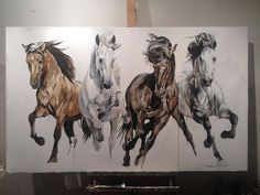 (47) Facebook Horse Drawings, Art Drawings, Horse Tattoo Design, Horse Artwork, Equine Art, Western Art, Animal Paintings, Painting & Drawing, Watercolor Art