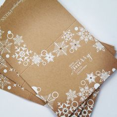 Christmas Card Set Kraft Snowflake Set of Ten by ChampagnePress, $32.00