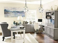 Home Office Space in my favorite....gray!!!