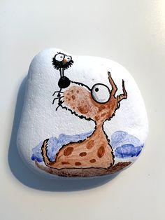 #Steinmalerei #Rockart #steinebemalen #steine #hund Fun Crafts, Crafts For Kids, Kindness Rocks, Rock Painting, Painted Rocks, Rolls, Clay, Stone, Stones