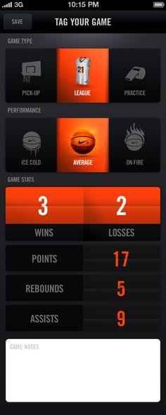 #Nike+ Basketball by Jordan Fripp, via #Behance #Mobile