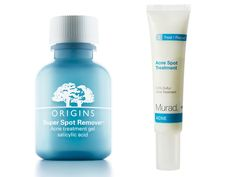 Murad's sulfur-based treatment takes down a blemish in a day or two but is gentle enough that it won't dry out the surrounding skin. When you need to do battle with a serious pimple (why thank you, PMS), break out the Origins gel. The hard-core remedy doesn't mess around! Murad Acne Spot Treatment, available at qvc.com, $18; Origins Super Spot Remover, available at origins.com, $15