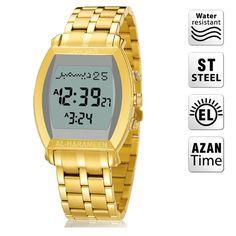 AL Harameen Muslim Azan Lady Watch Prayer Wriste  Watch 6260 Gold High Elegant Best Muslim Products Gifts Package 100% Origin