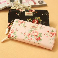 wallet with flowers
