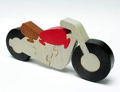 Decor de moto et de Puzzle en bois par berkshirebowls sur Etsy