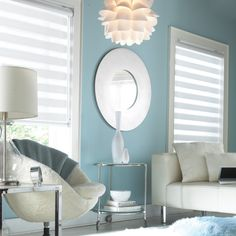 Transition Shades : Also known as Dual concept Rollers® , Mandalay ® or Zebra Shades®, they are a perfect fusion of modern and formal look. Easy to maintain and use, they really add a beautiful touch to your windows. http://www.windowinspirations.ca/