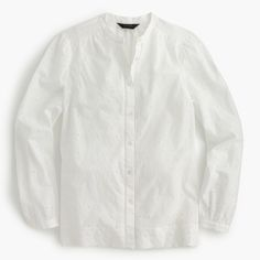 Tall eyelet button-up shirt