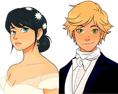 Oh my gosh this is Marinette and Adrien as Christine Daae and Raoul from Phantom of the Opera!!!!!!!!!!!!!