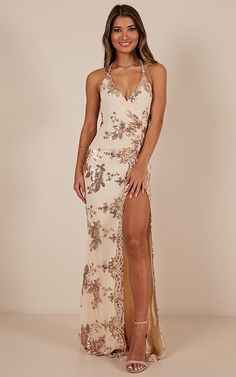 Youll love the Out till dawn dress! This gorgeous backless dress features a embellishment detailing and a maxi length. This is the perfect dress for any occasion! Dress this bad boy up with some strappy heels or dress down with some gorgeous sandals f Nude Prom Dresses, Senior Prom Dresses, Pretty Prom Dresses, Event Dresses, Stunning Dresses, Ball Dresses, Sexy Dresses, Cute Dresses, Bridesmaid Dresses