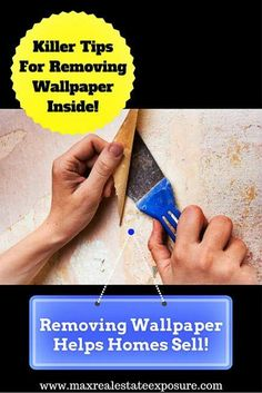 How to Take Down Wallpaper. Do You Have Ugly Wallpaper Hanging Around You Know Should Be Removed? Take a Look at The Guide on How to Easily Remove Old Wallpaper: http://www.maxrealestateexposure.com/how-to-remove-wallpaper/