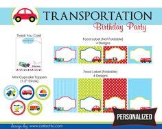Paquete fiesta de cumpleaños de transporte DIY para por CallaChic