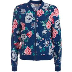 Vero Moda Vmsuper Easy Ls Bomber Jacket Print ($34) ❤ liked on Polyvore featuring outerwear, jackets, vero moda jacket, patterned bomber jacket, blouson jacket, bomber style jacket and zipper jacket