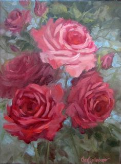 Etsy listing at http://www.etsy.com/listing/127733789/red-and-pink-cabbage-roses-original