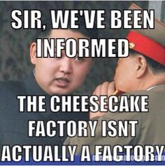 Cheesecake Factory Food Jokes, Food Humor, Cheesecake, My Favorite Things, Cheese Cakes, Cheesecakes, Cherry Cheesecake Shooters
