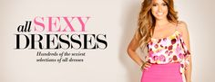 All Sexy Dresses - This site has the cutest, sexiest & even classy dresses for great prices! I want so many of them!