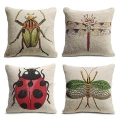 Originally from Grandin Road, bought mine from Rhonda Morris, beetle top left, insect bottom right - LOVE THEM (insect pillows)