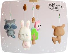 Baby mobile forest Nursery mobile woodland Animals baby mobile Crib mobile animals Baby girl mobile animals Nature baby mobile forest ✂ MAKING TIME is 6 weeks ✈ Delivery time is 2-4 weeks depending on your location ★.•* • . You want to make it in Personal Colors? Just write me . • *•.★