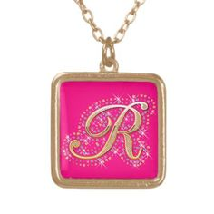 Cute Necklace with Initial ''R''.