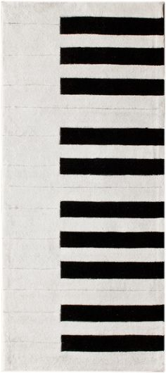 modernrugs.com piano keys keyboard black white modern rug