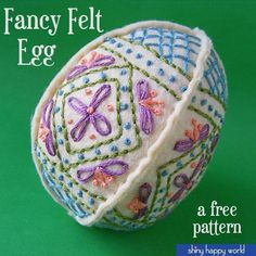 Easy Embroidered Easter Egg