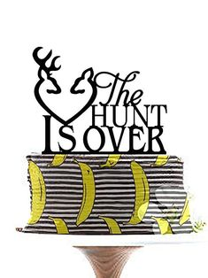 Custom Wedding Couple Deer Silhouette Cake Topper Rustic The Hunt Isover Hunter