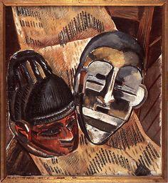 Negro Masks by Malvin Gray Johnson, 1932